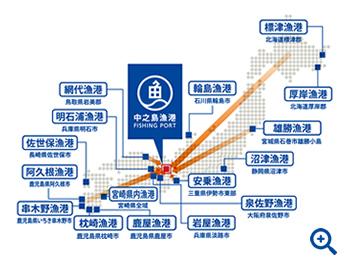 中之島漁港マップ